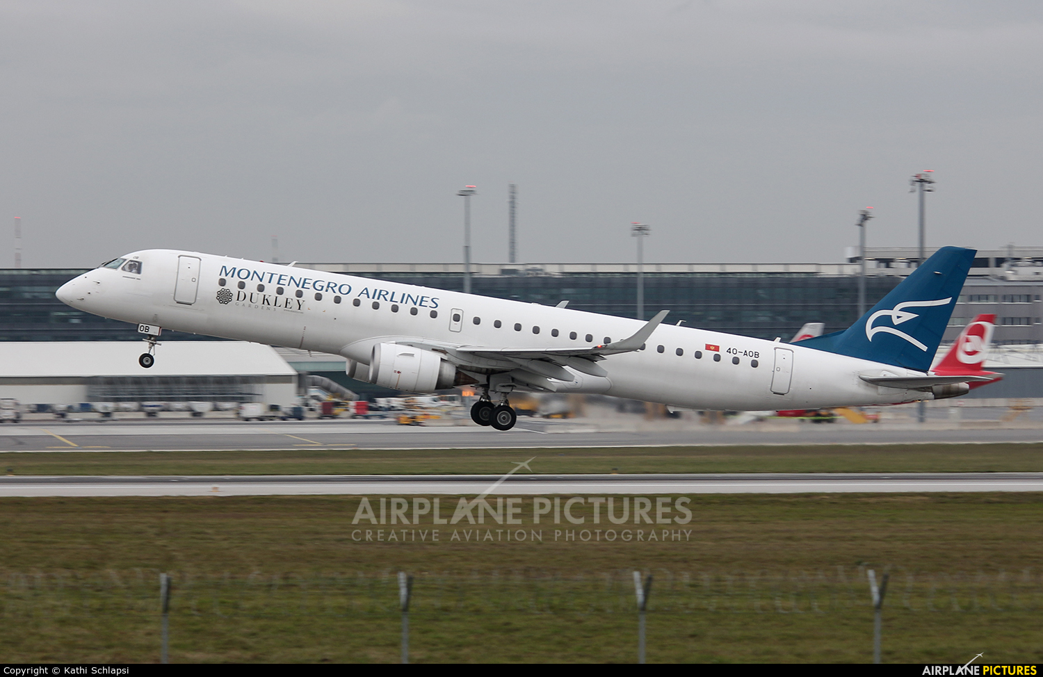 Montenegro Airlines 4O-AOB aircraft at Vienna - Schwechat