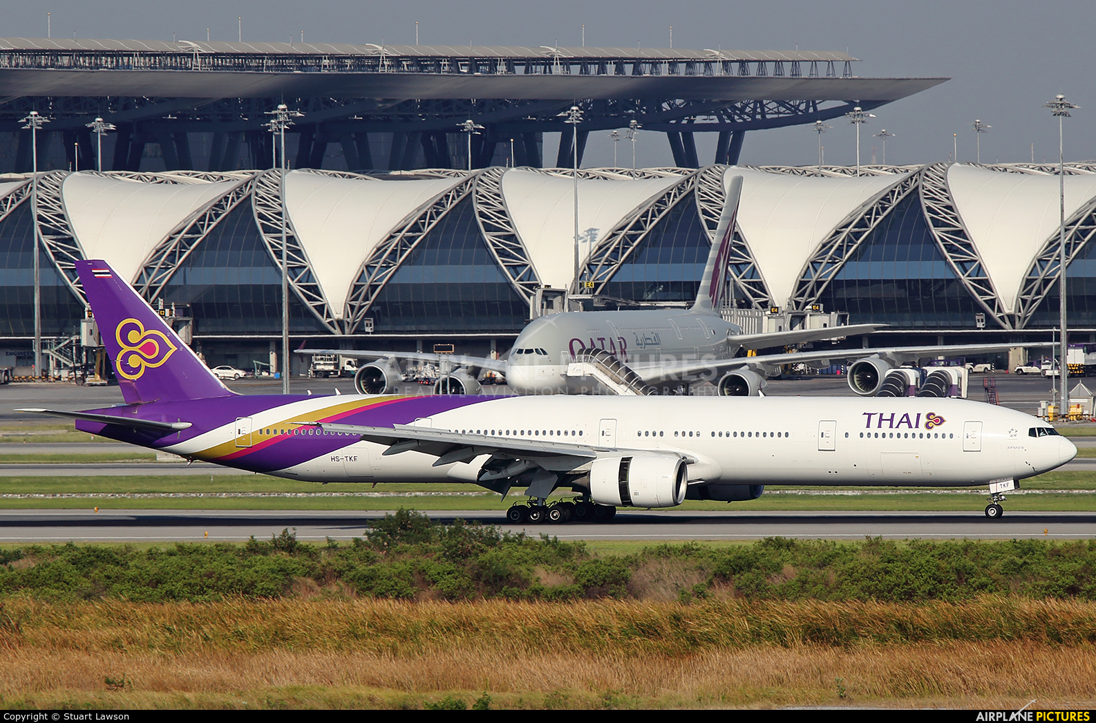 Thai Airways HS-TKF aircraft at Bangkok - Suvarnabhumi