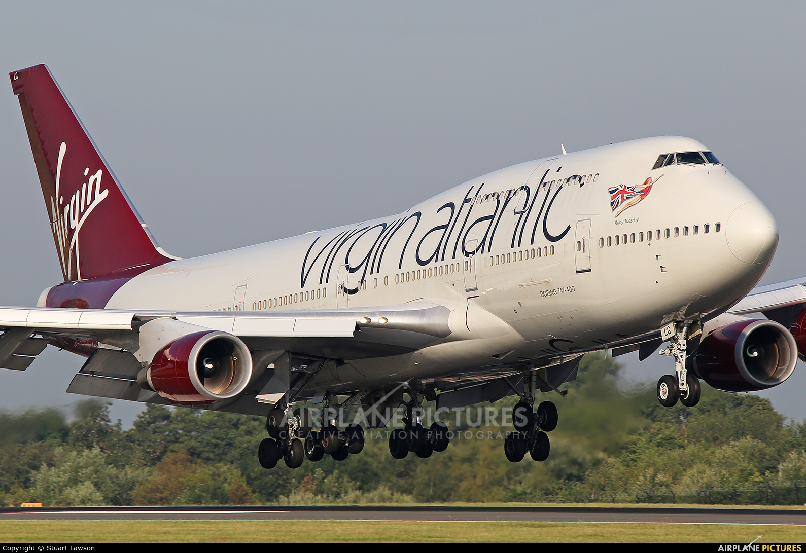 Virgin Atlantic G-VXLG aircraft at Manchester