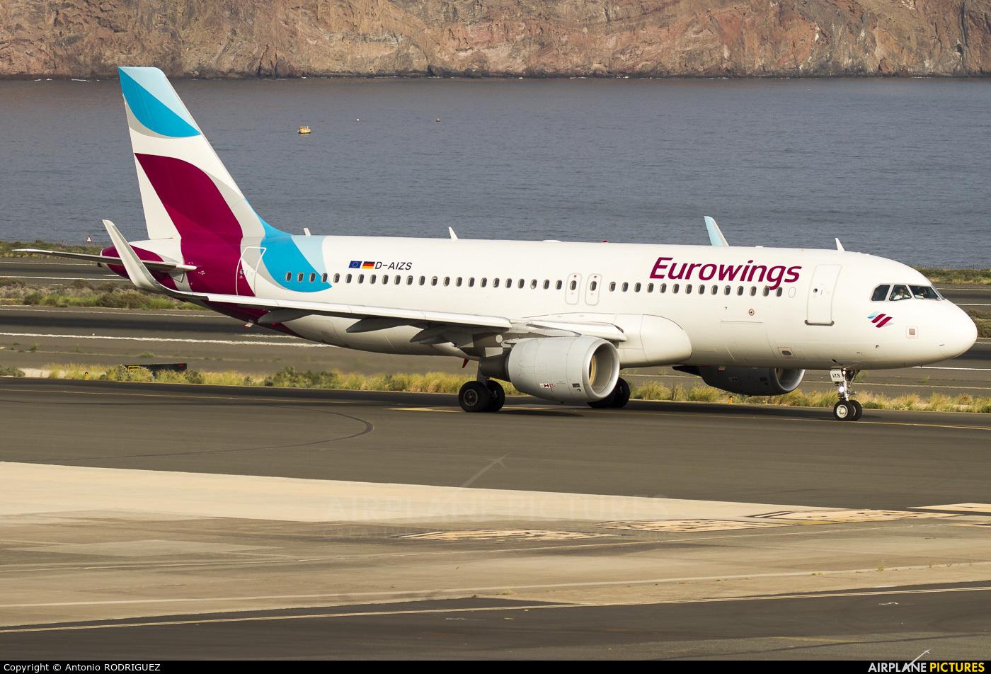 Eurowings D-AIZS aircraft at Las Palmas de Gran Canaria
