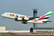 A6-EEI - Emirates Airlines Airbus A380 aircraft