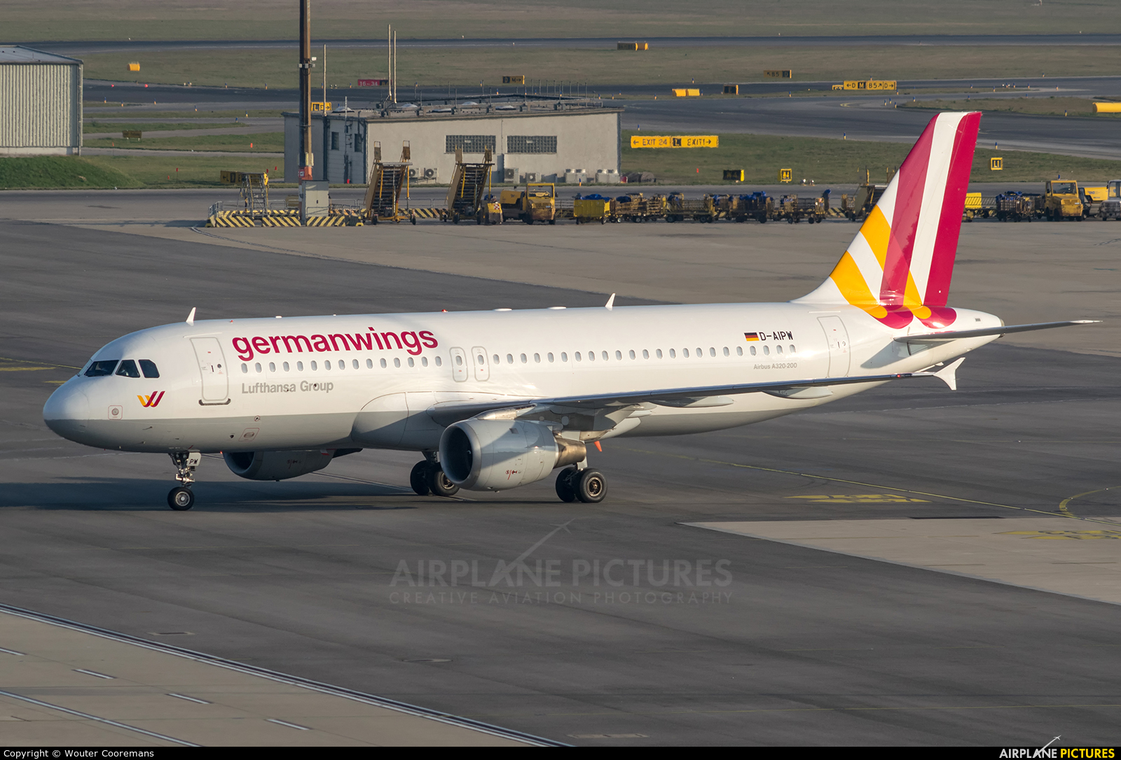 Germanwings D-AIPW aircraft at Vienna - Schwechat