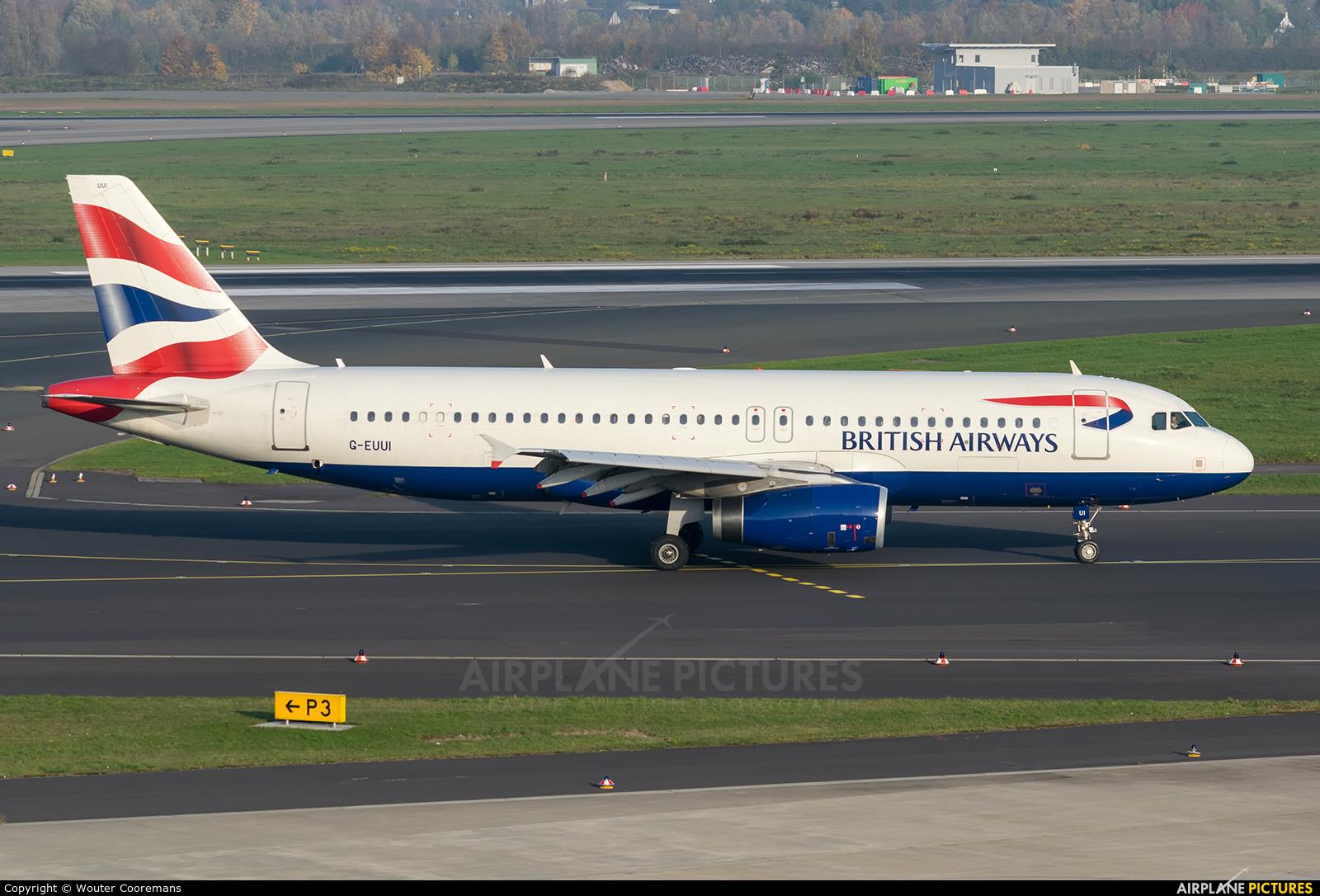 British Airways G-EUUI aircraft at Düsseldorf