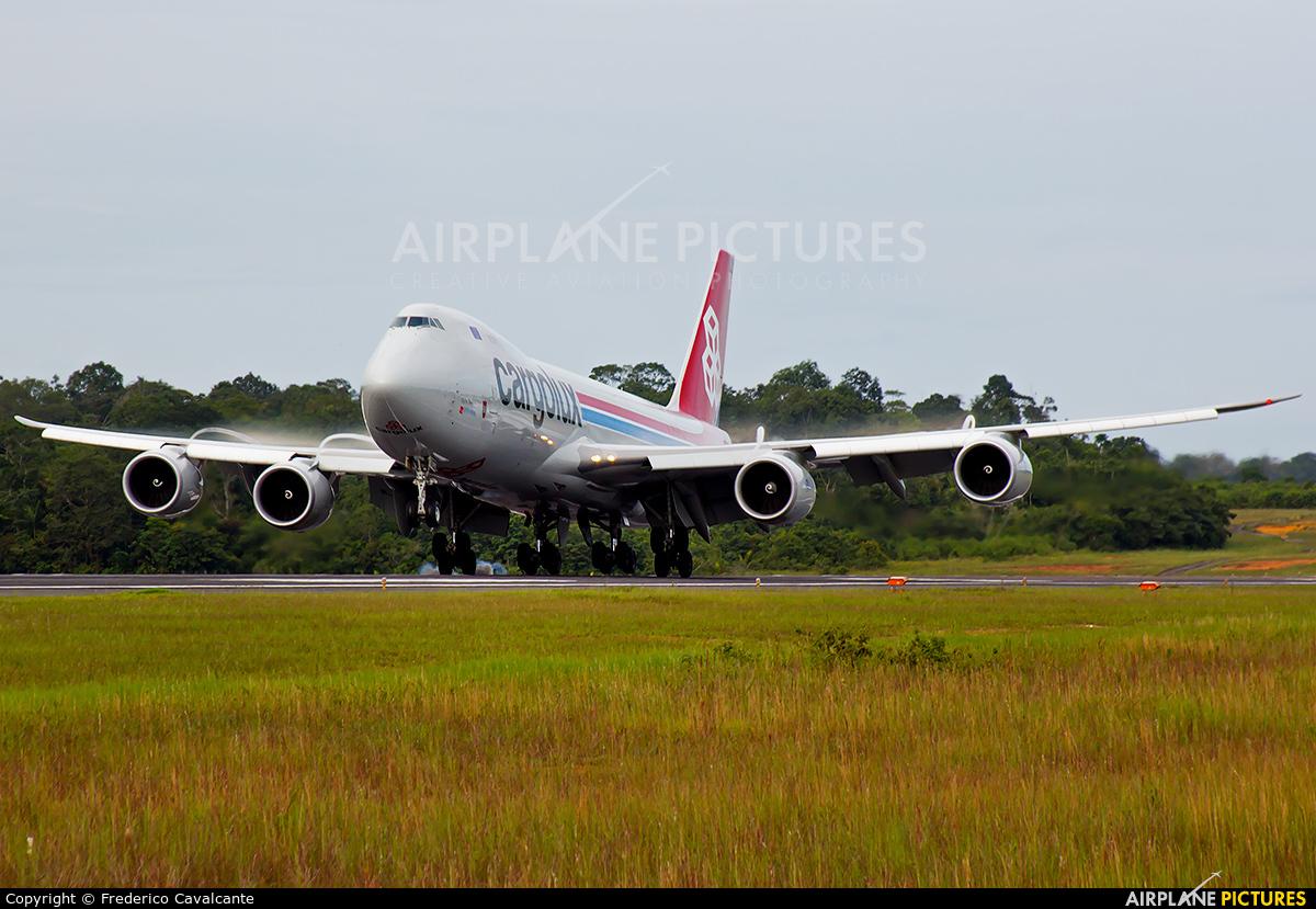 Cargolux LX-VCG aircraft at Manaus - Eduardo Gomes