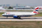 G-EUYE - British Airways Airbus A320 aircraft