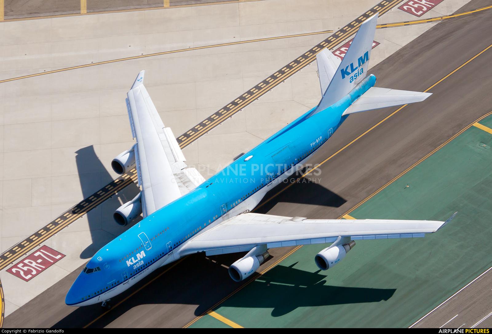 KLM Asia PH-BFP aircraft at Los Angeles Intl