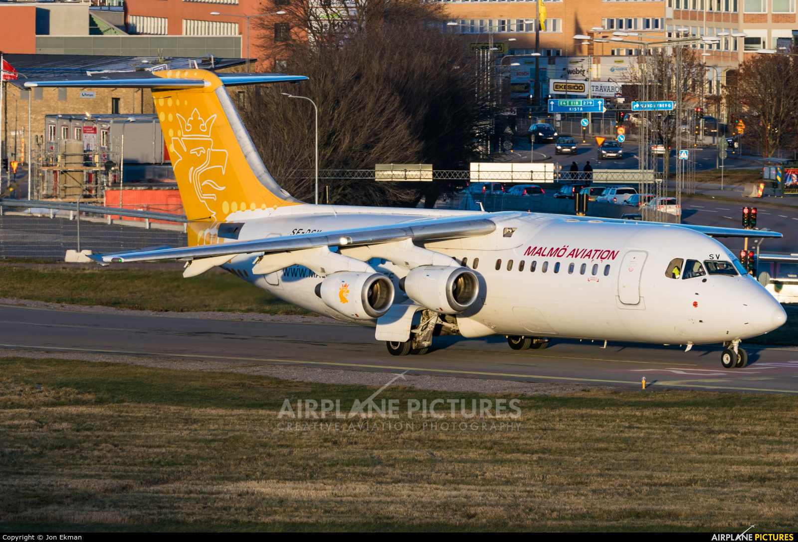 Malmo Aviation SE-DSV aircraft at Stockholm - Bromma