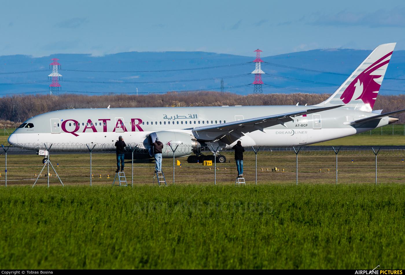 Qatar Airways A7-BCP aircraft at Vienna - Schwechat