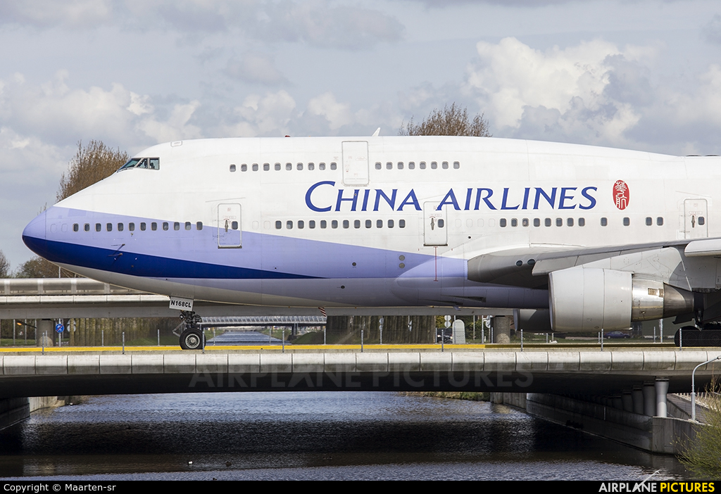 China Airlines N168CL aircraft at Amsterdam - Schiphol