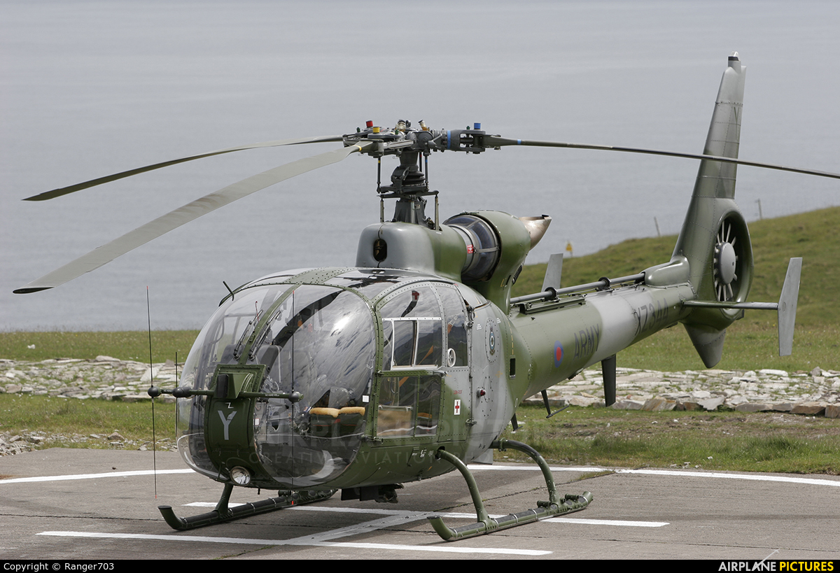 British Army XZ344 aircraft at Faraid Head HLS