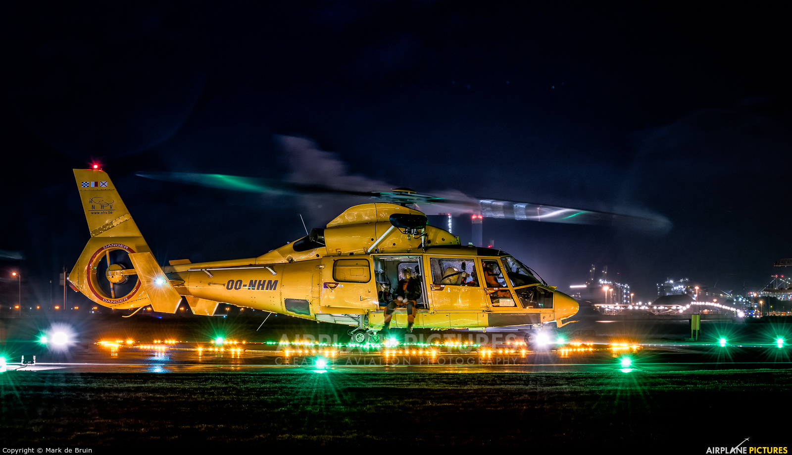 NHV - Noordzee Helikopters Vlaanderen OO-NHM aircraft at Rotterdam