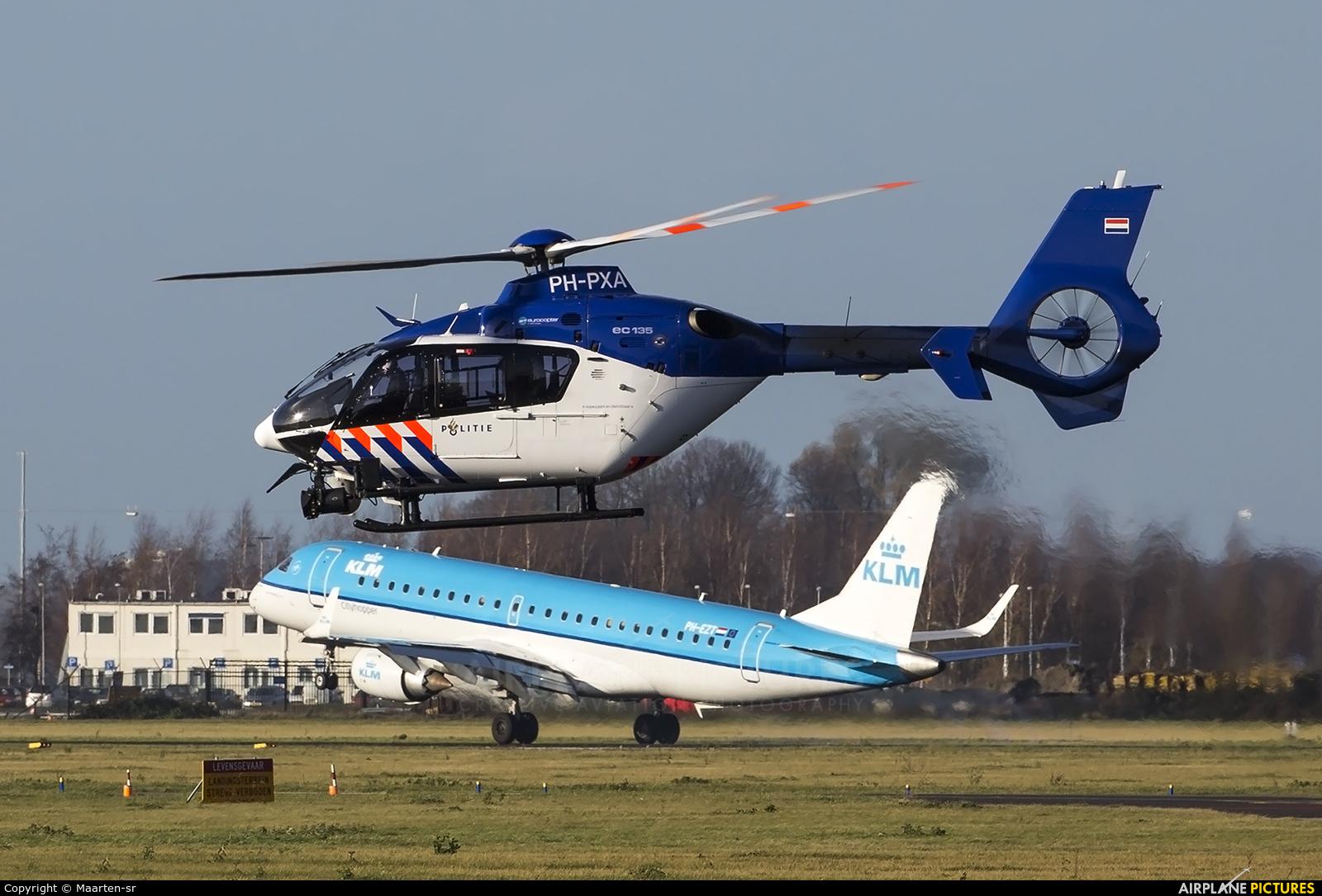 Netherlands - Police PH-PXA aircraft at Amsterdam - Schiphol
