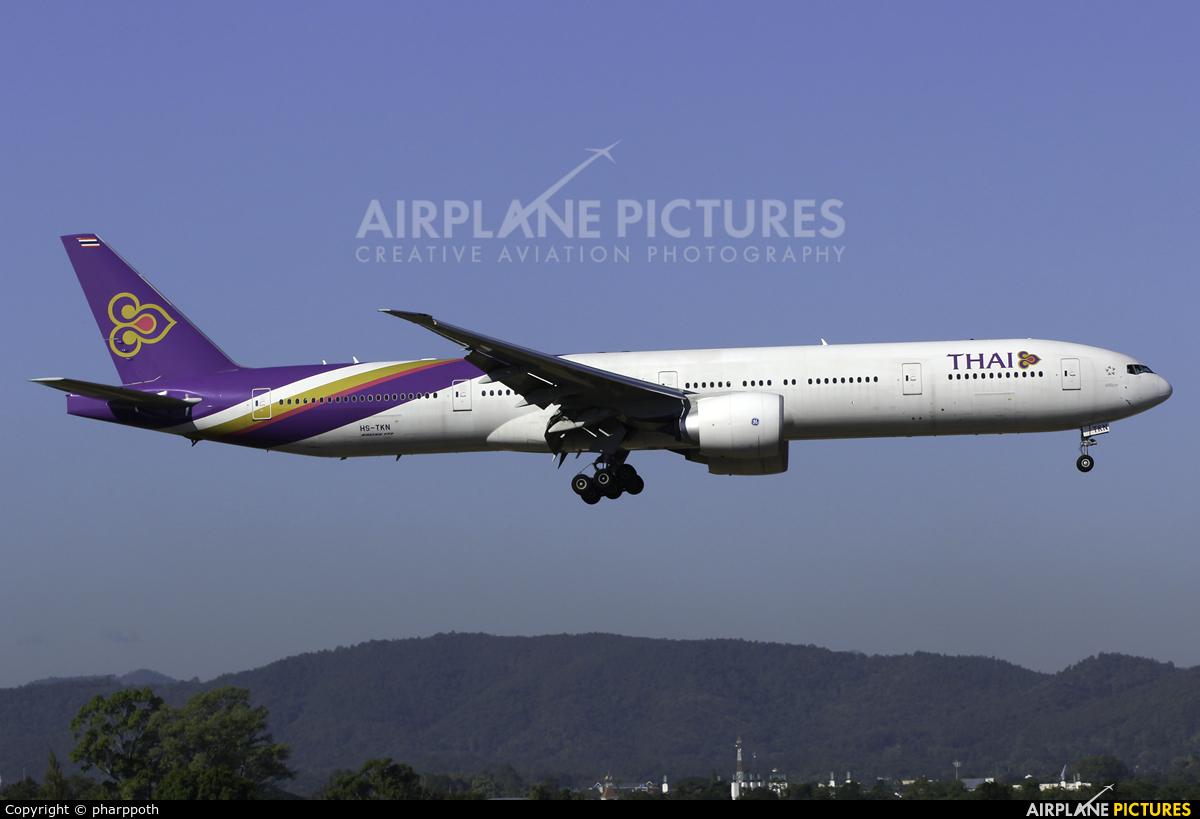 Thai Airways HS-TKN aircraft at Chiang-Mai