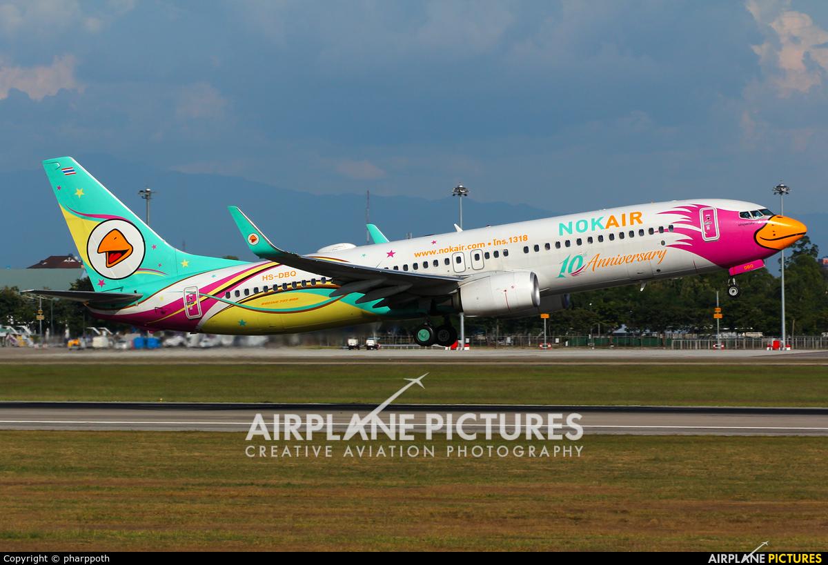 Nok Air HS-DBQ aircraft at Chiang-Mai