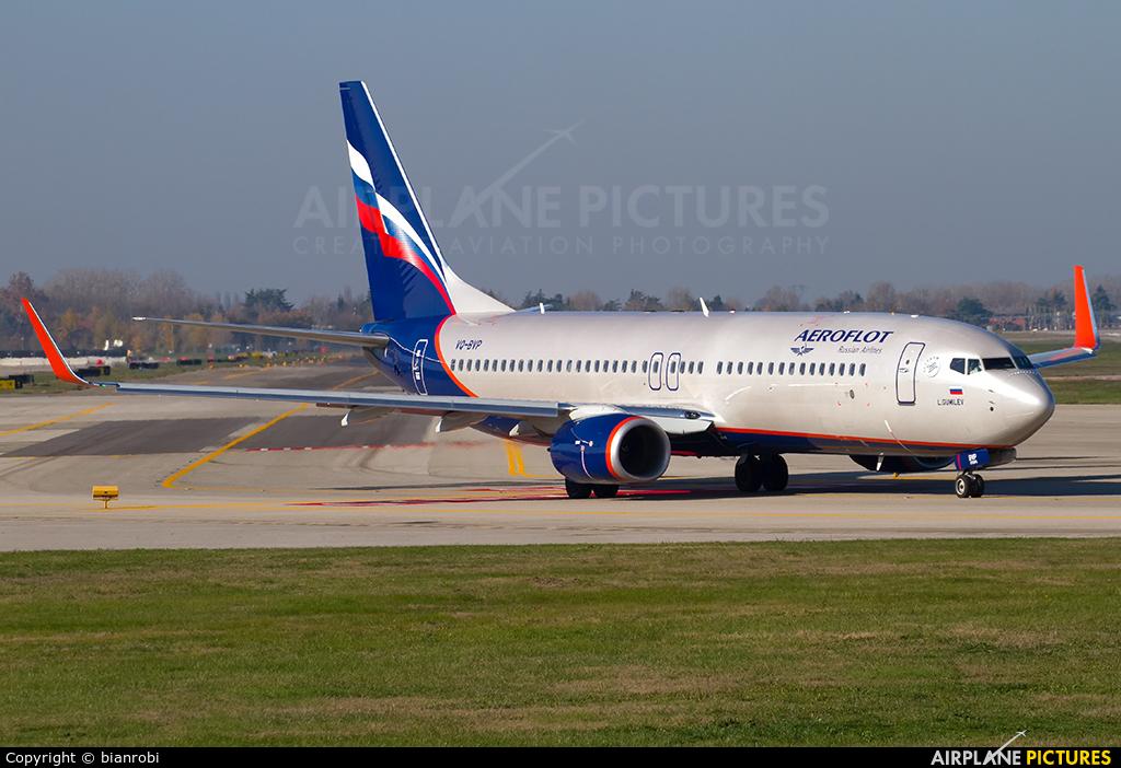 Aeroflot VQ-BVP aircraft at Bologna - Borgo Panigale