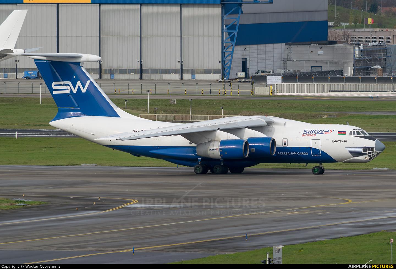 Silk Way Airlines 4K-AZ100 aircraft at Brussels - Zaventem