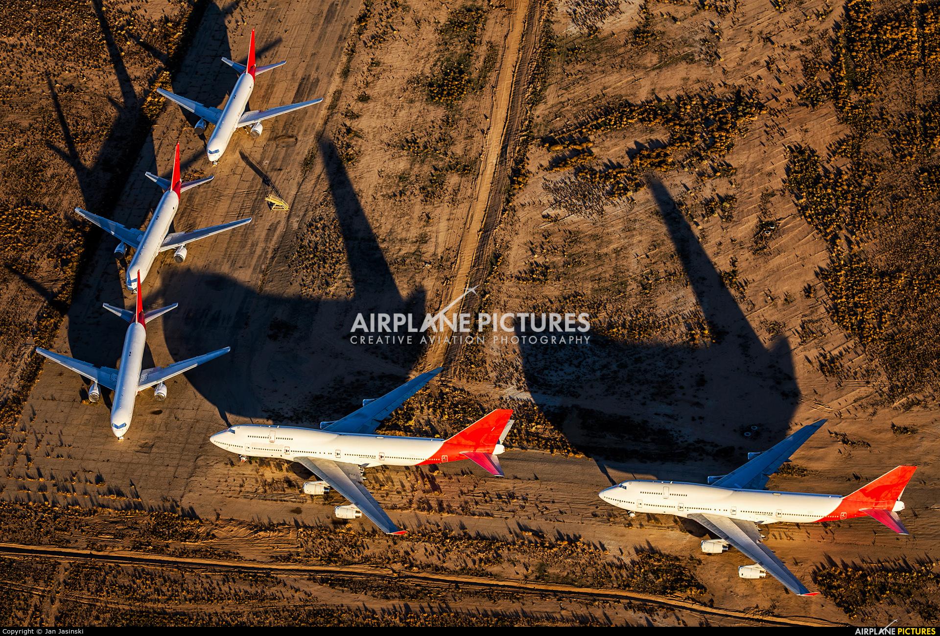 QANTAS - aircraft at Victorville - Southern California Logistics
