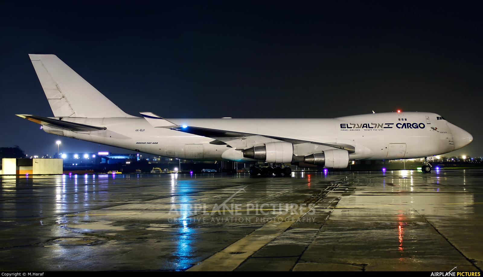 El Al Cargo 4X-ELF aircraft at Dublin