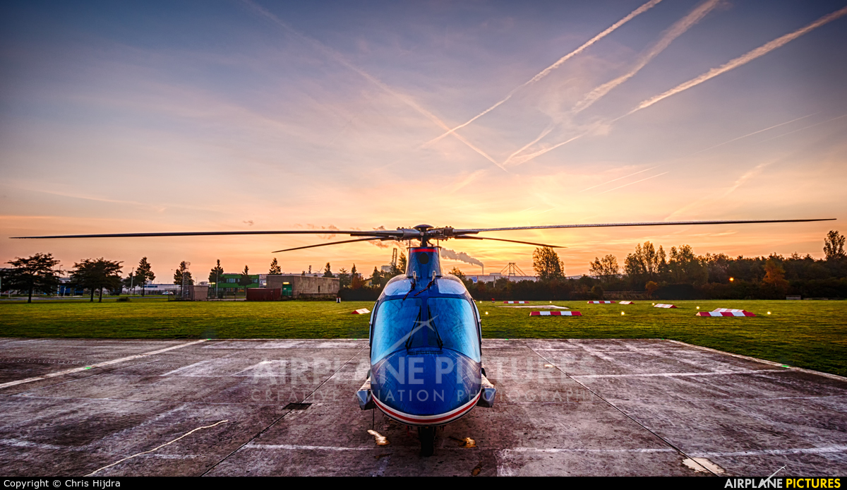 Private RA-01900 aircraft at Amsterdam Heliport