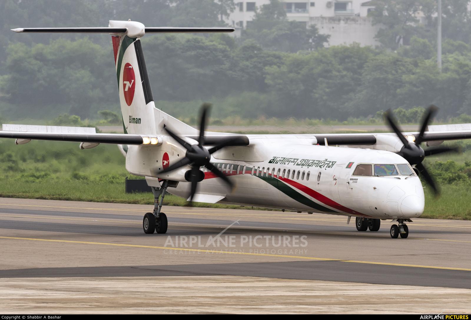 Biman Bangladesh S2-AGR aircraft at Dhaka - Hazrat Shahjala Intl