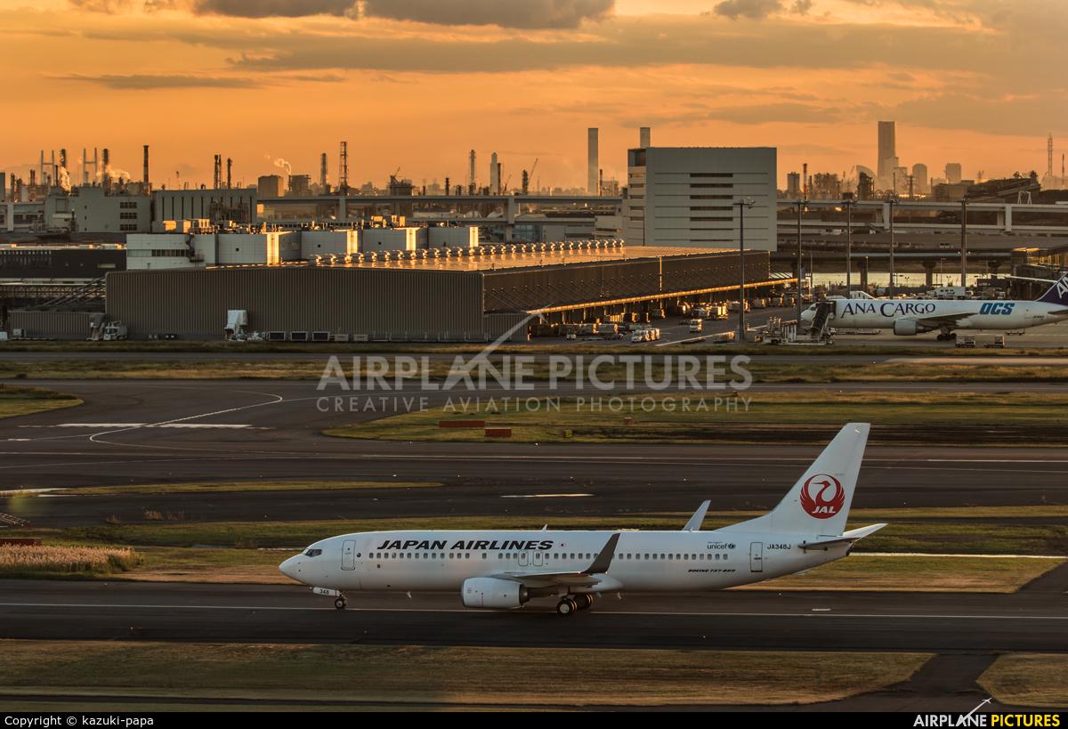 JAL - Japan Airlines JA348J aircraft at Tokyo - Haneda Intl