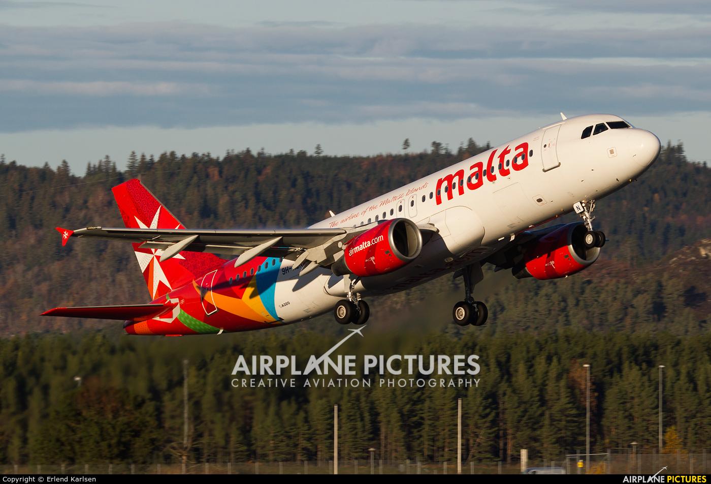 Air Malta 9H-AEN aircraft at Trondheim - Vaernes