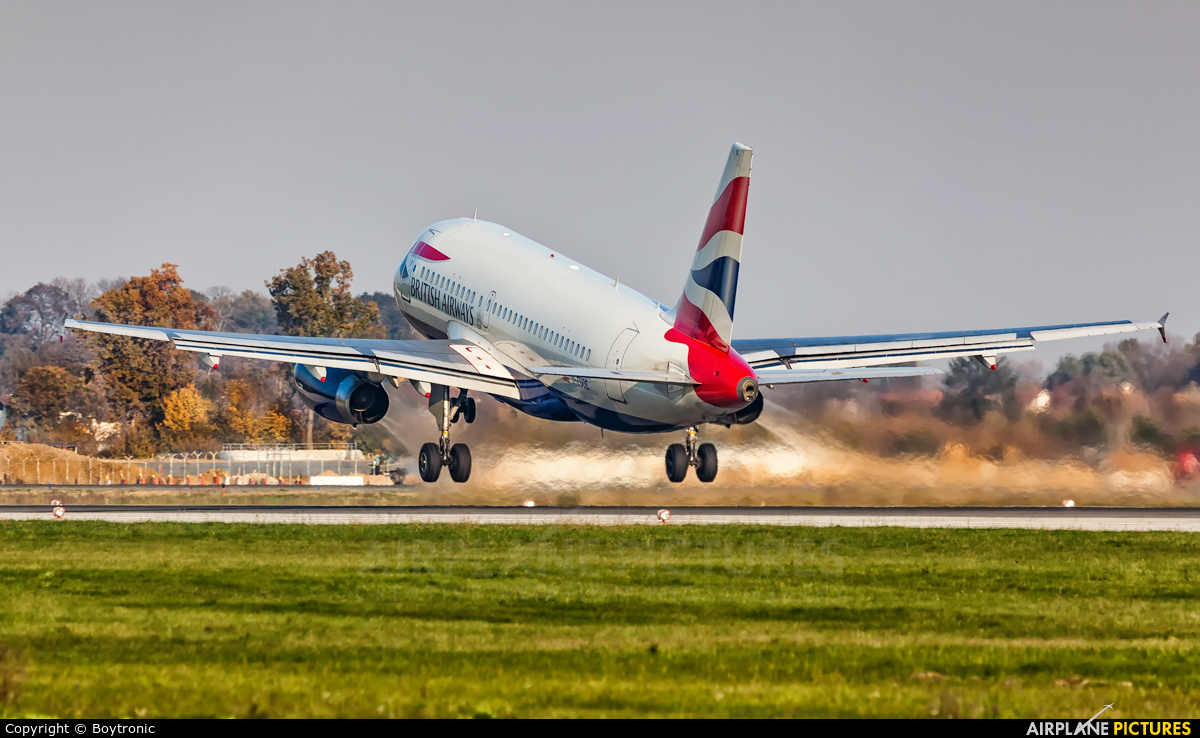 British Airways G-EUOE aircraft at Zagreb