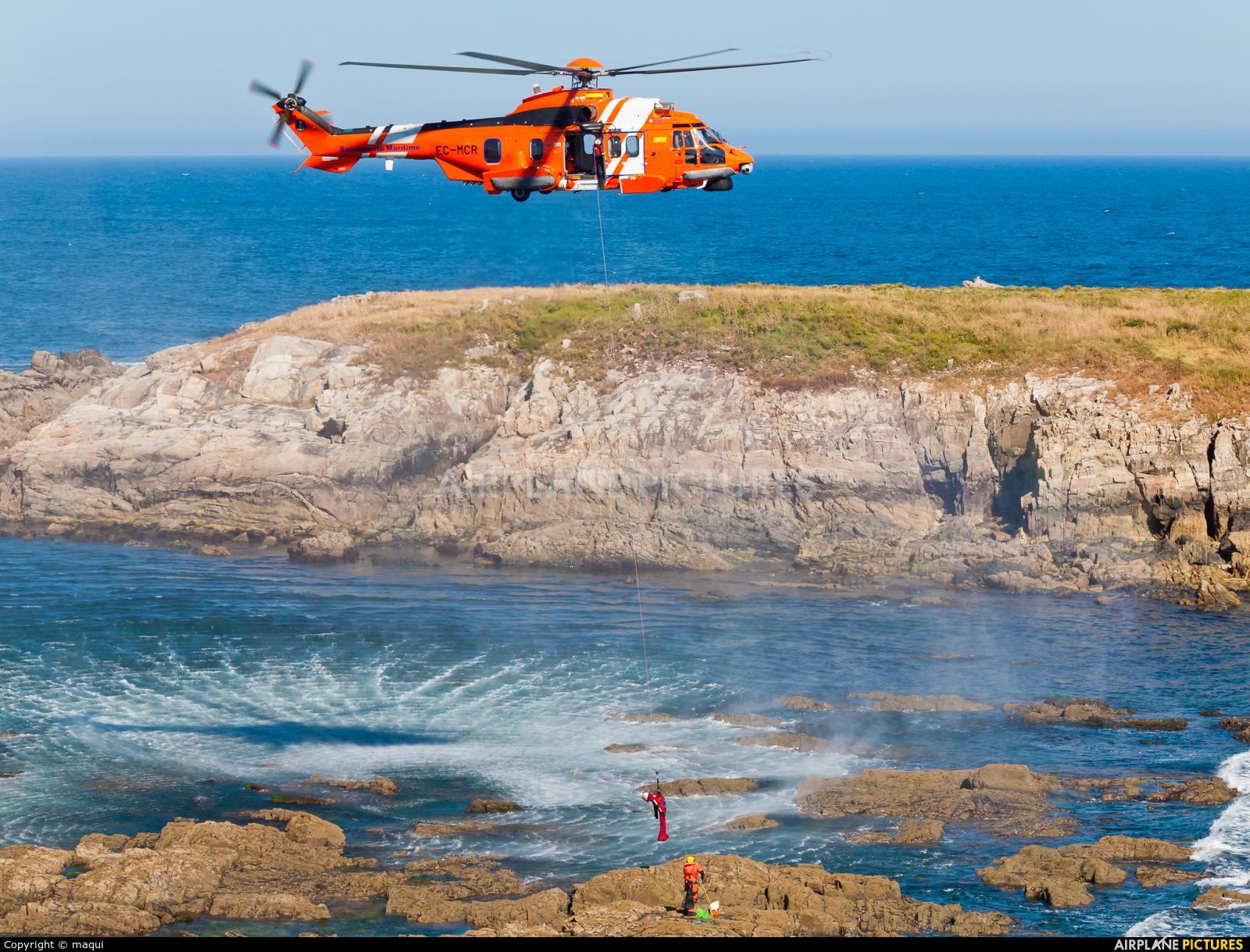 Spain - Coast Guard EC-MCR aircraft at La Coruña - El Portiño