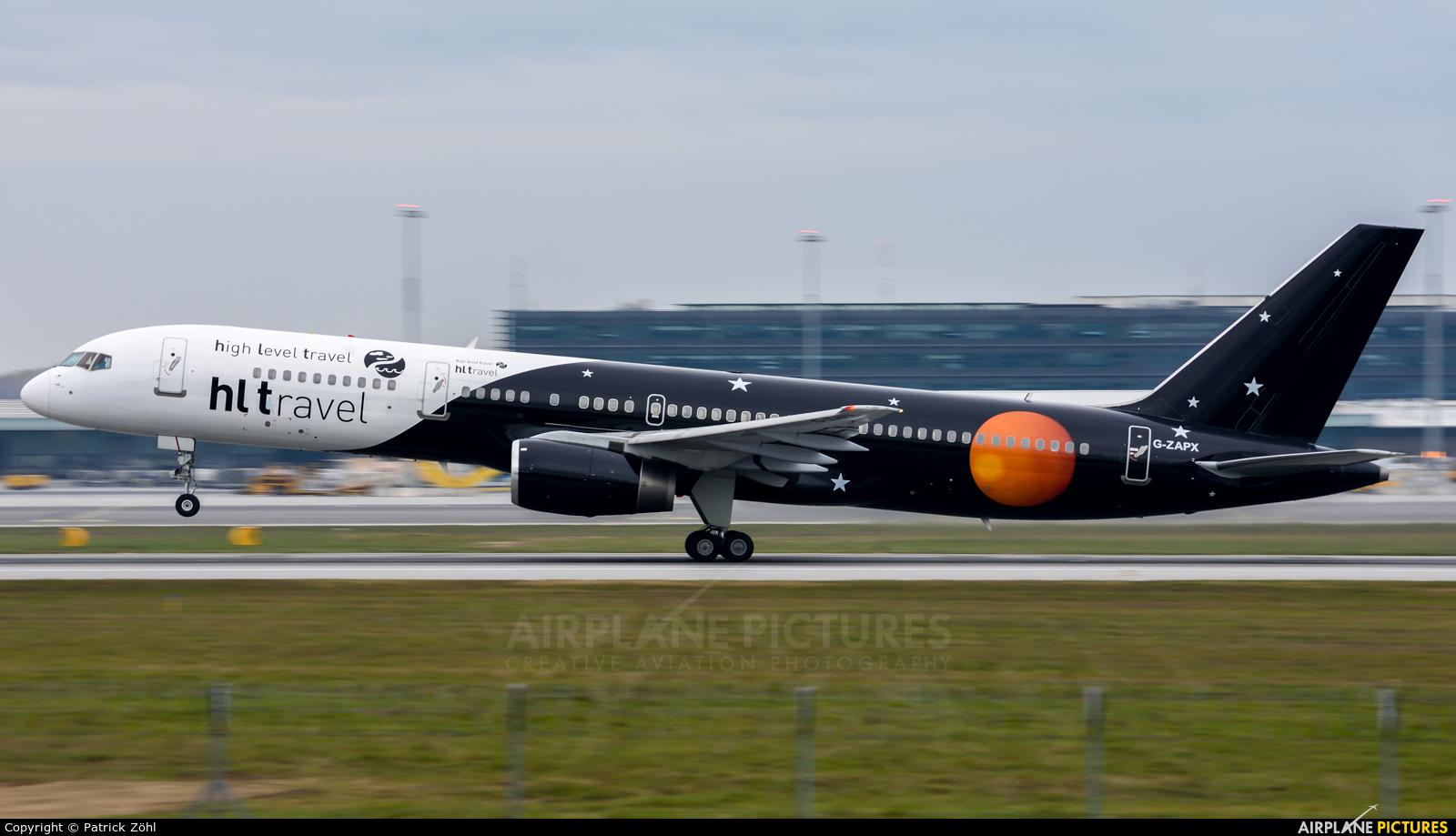 Titan Airways G-ZAPX aircraft at Vienna - Schwechat