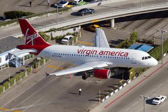 N527VA - Virgin America Airbus A319