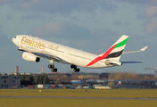 A6-EKQ - Emirates Airlines Airbus A330-200 aircraft