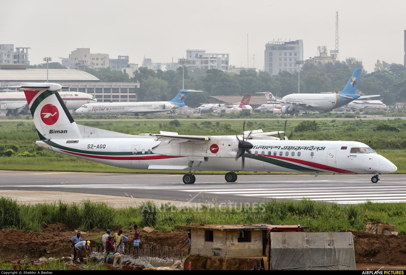 Biman Bangladesh S2-AGQ aircraft at Dhaka - Hazrat Shahjala Intl