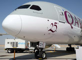 25th Qatar Airways Dreamliner title=