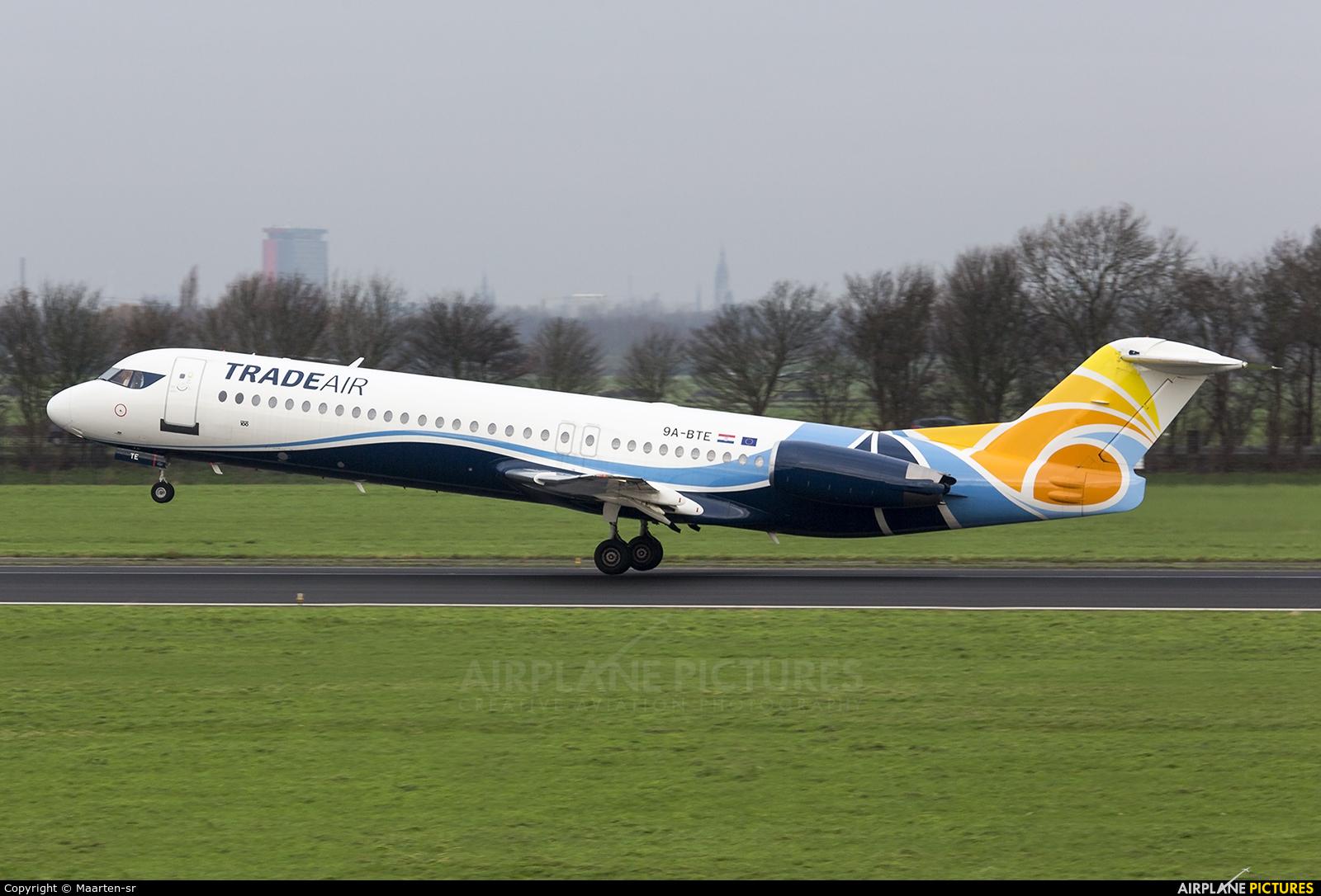 Trade Air 9A-BTE aircraft at Rotterdam