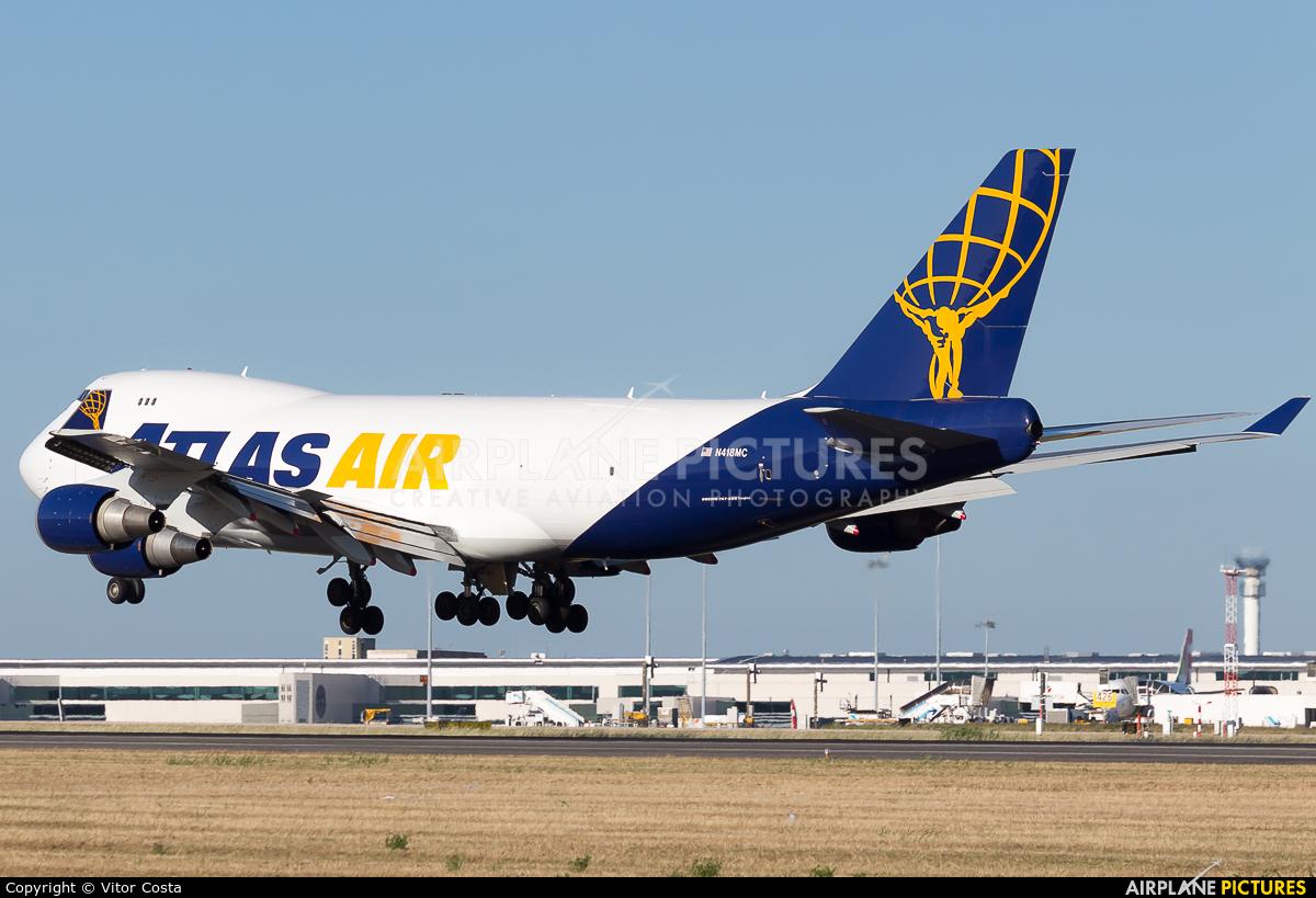 Atlas Air N418MC aircraft at Lisbon