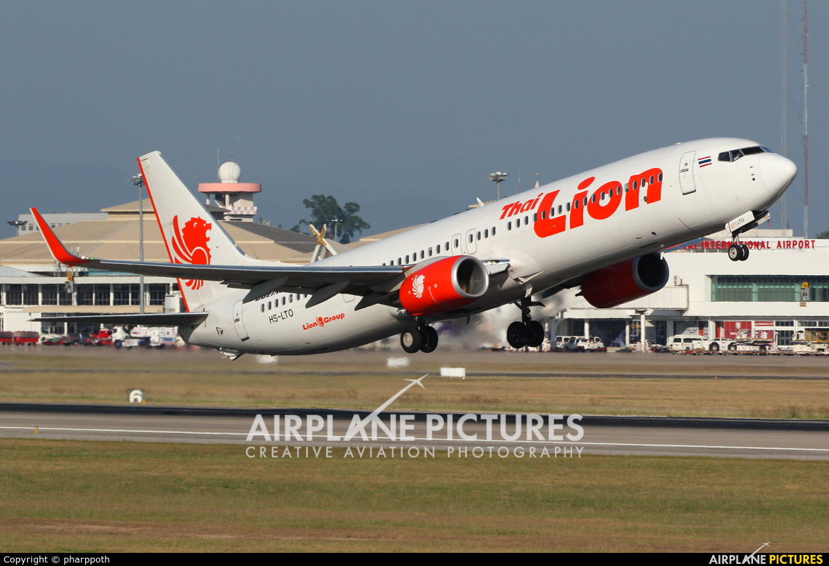 Thai Lion Air HS-LTO aircraft at Chiang-Mai