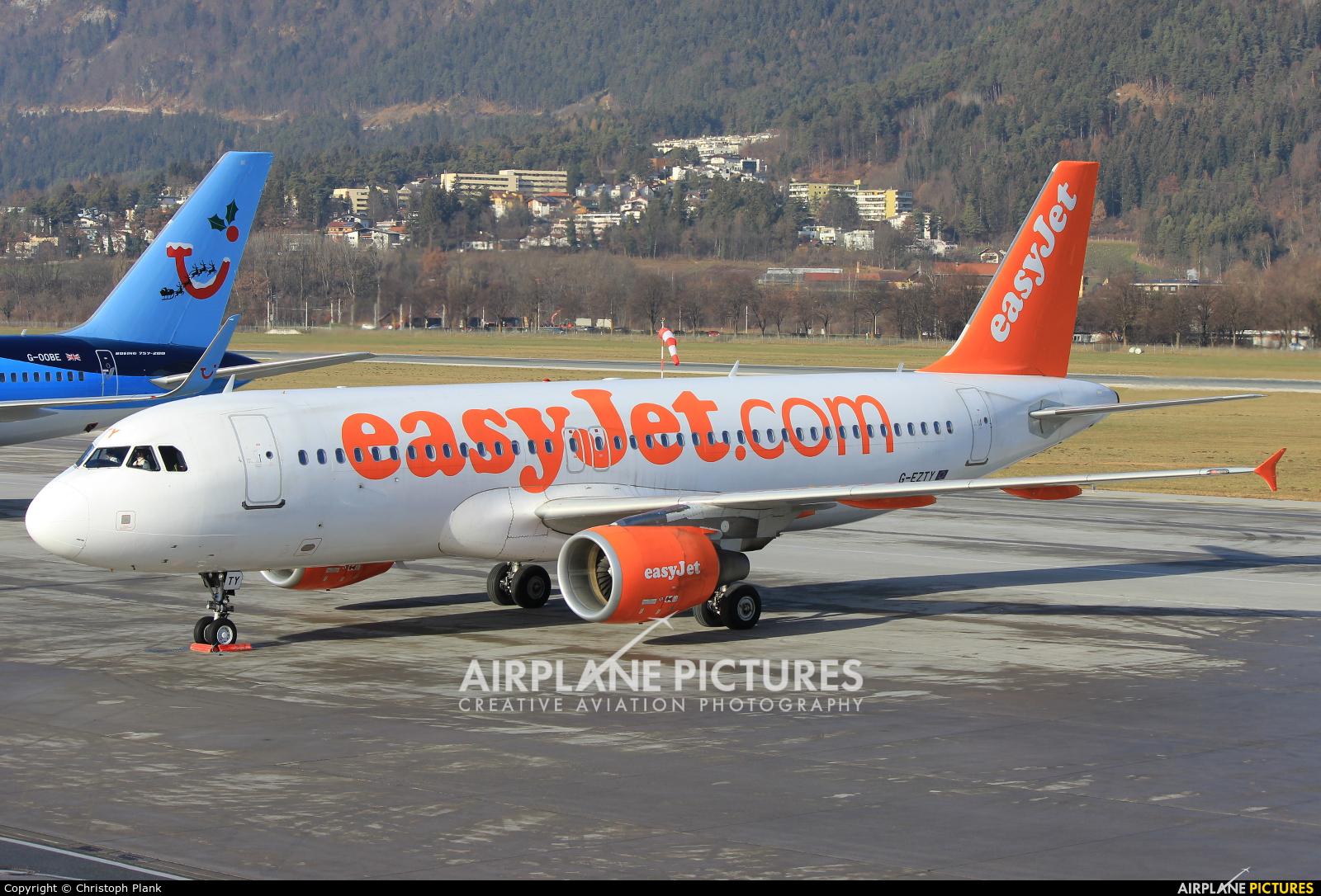 easyJet G-EZTY aircraft at Innsbruck
