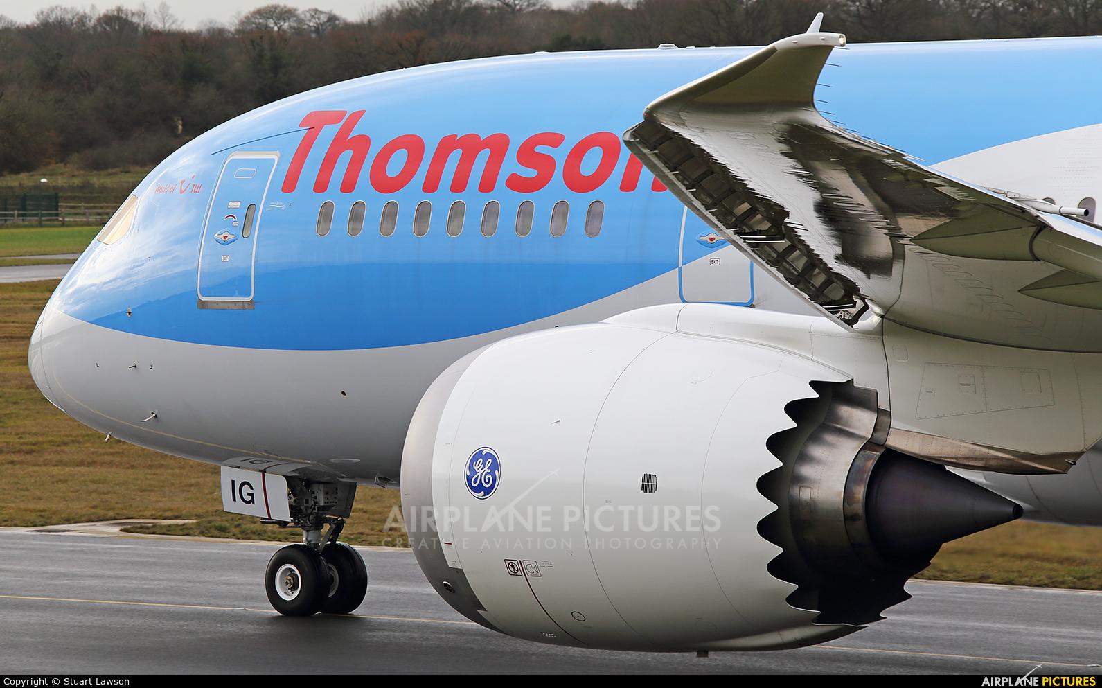 Thomson/Thomsonfly G-TUIG aircraft at Birmingham