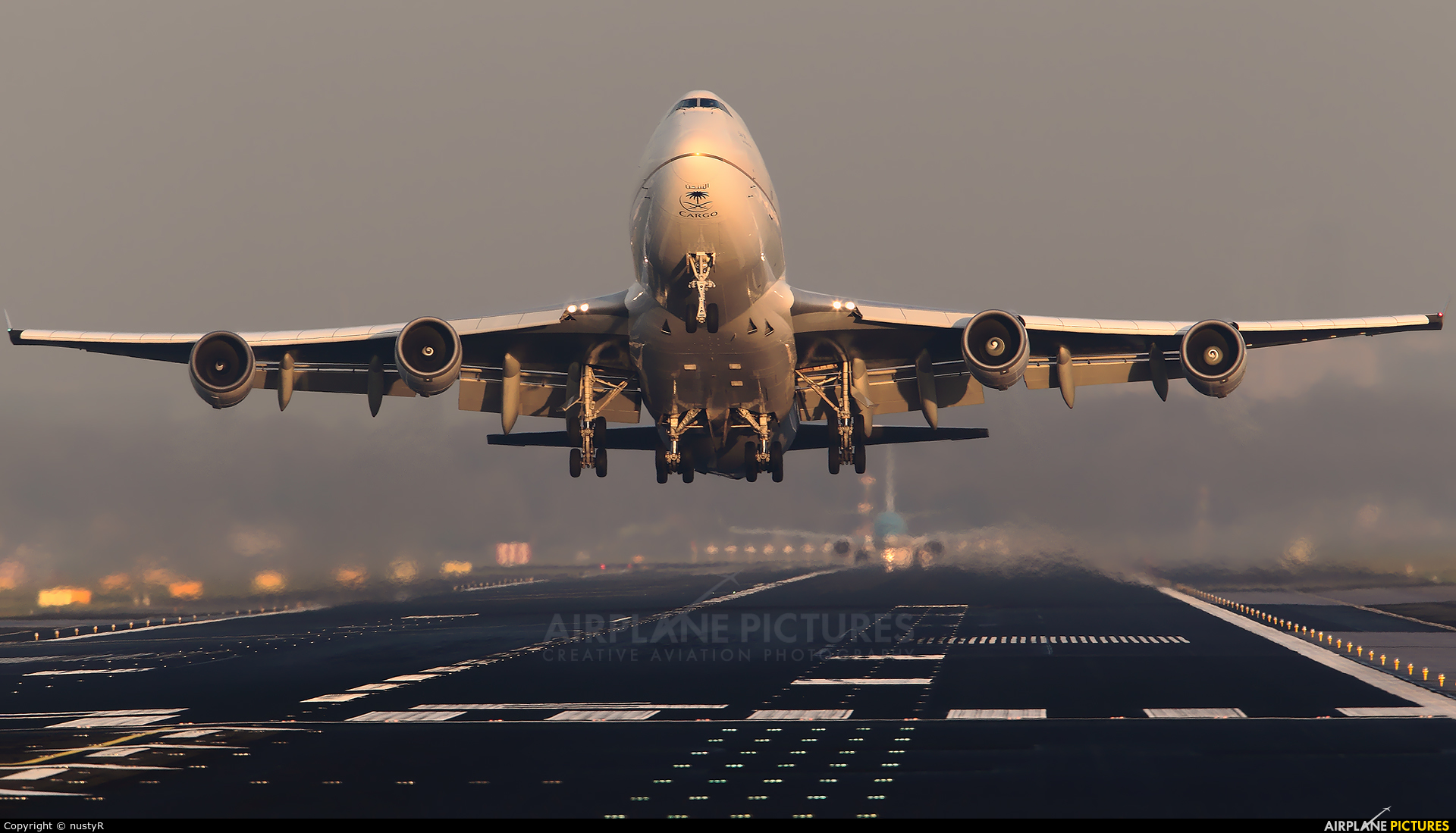 Saudi Arabian Cargo TF-AMU aircraft at Amsterdam - Schiphol