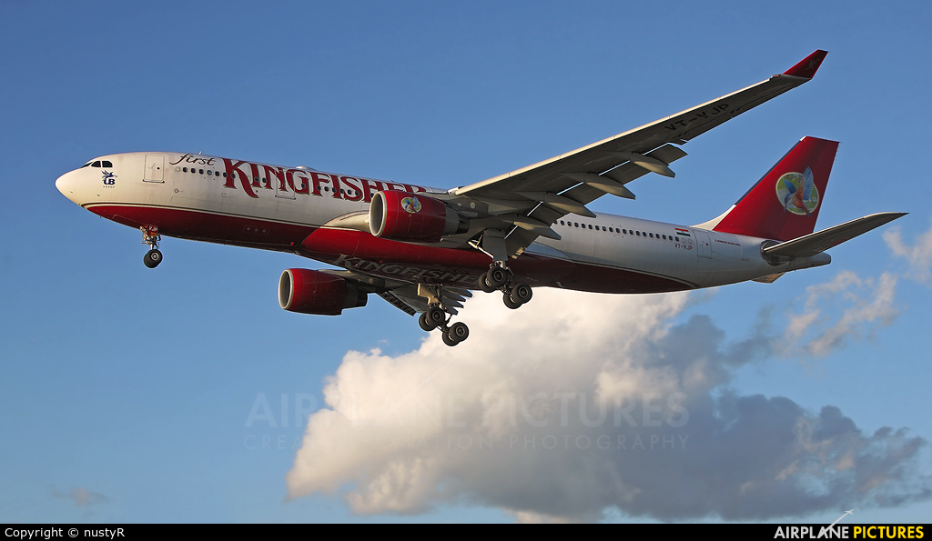 Kingfisher Airlines VT-VJP aircraft at London - Heathrow