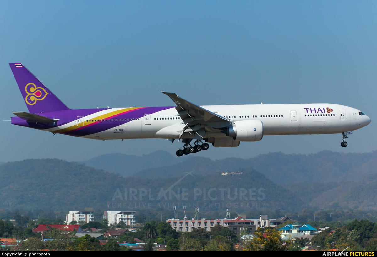 Thai Airways HS-TKQ aircraft at Chiang-Mai