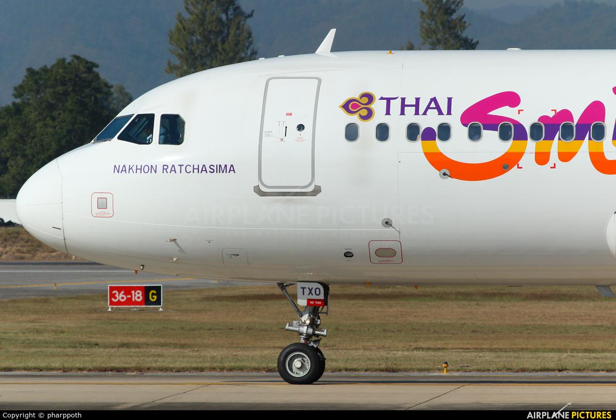 Thai Smile HS-TXO aircraft at Chiang-Mai