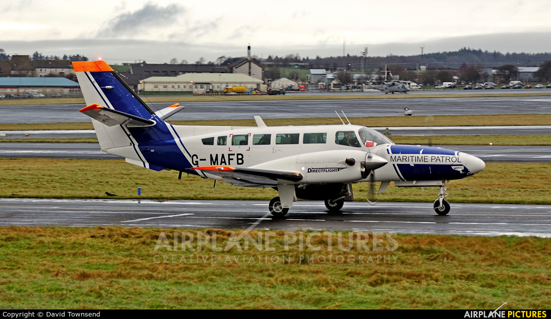 Directflight G-MAFB aircraft at Prestwick