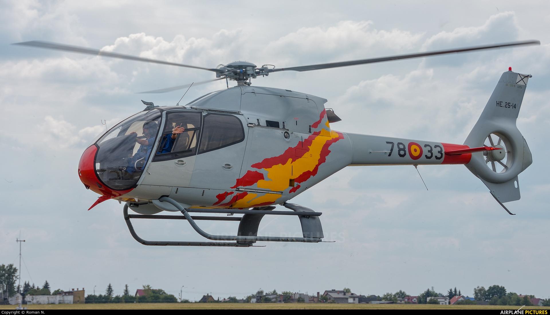Spain - Air Force: Patrulla ASPA HE.25-14 aircraft at Radom - Sadków