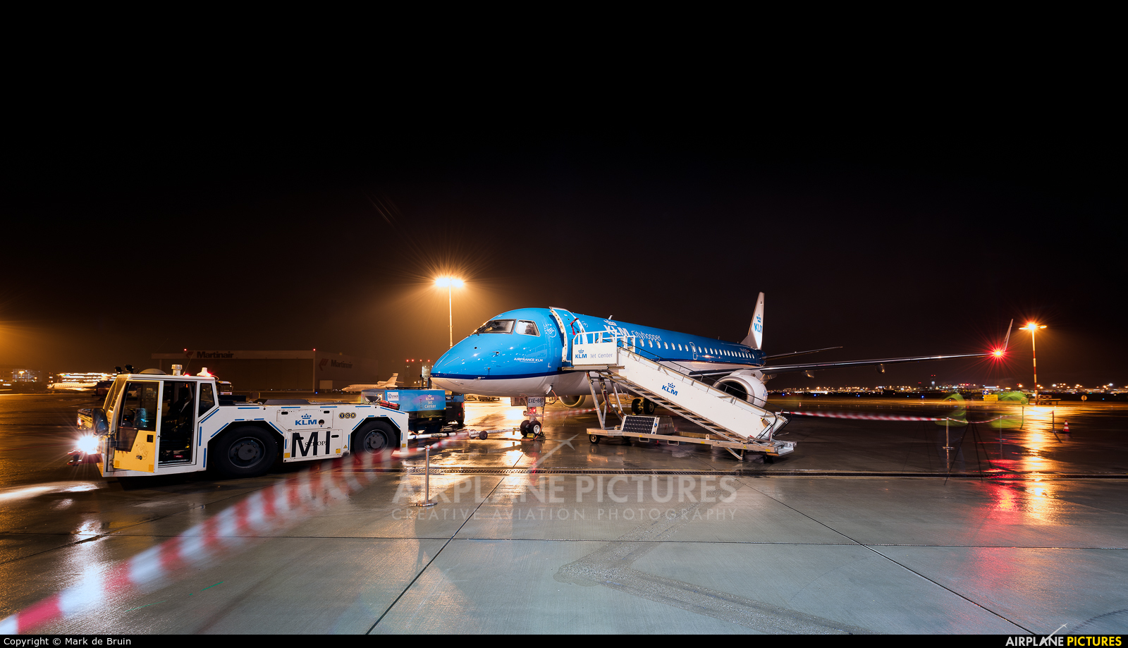KLM Cityhopper PH-EXE aircraft at Amsterdam - Schiphol