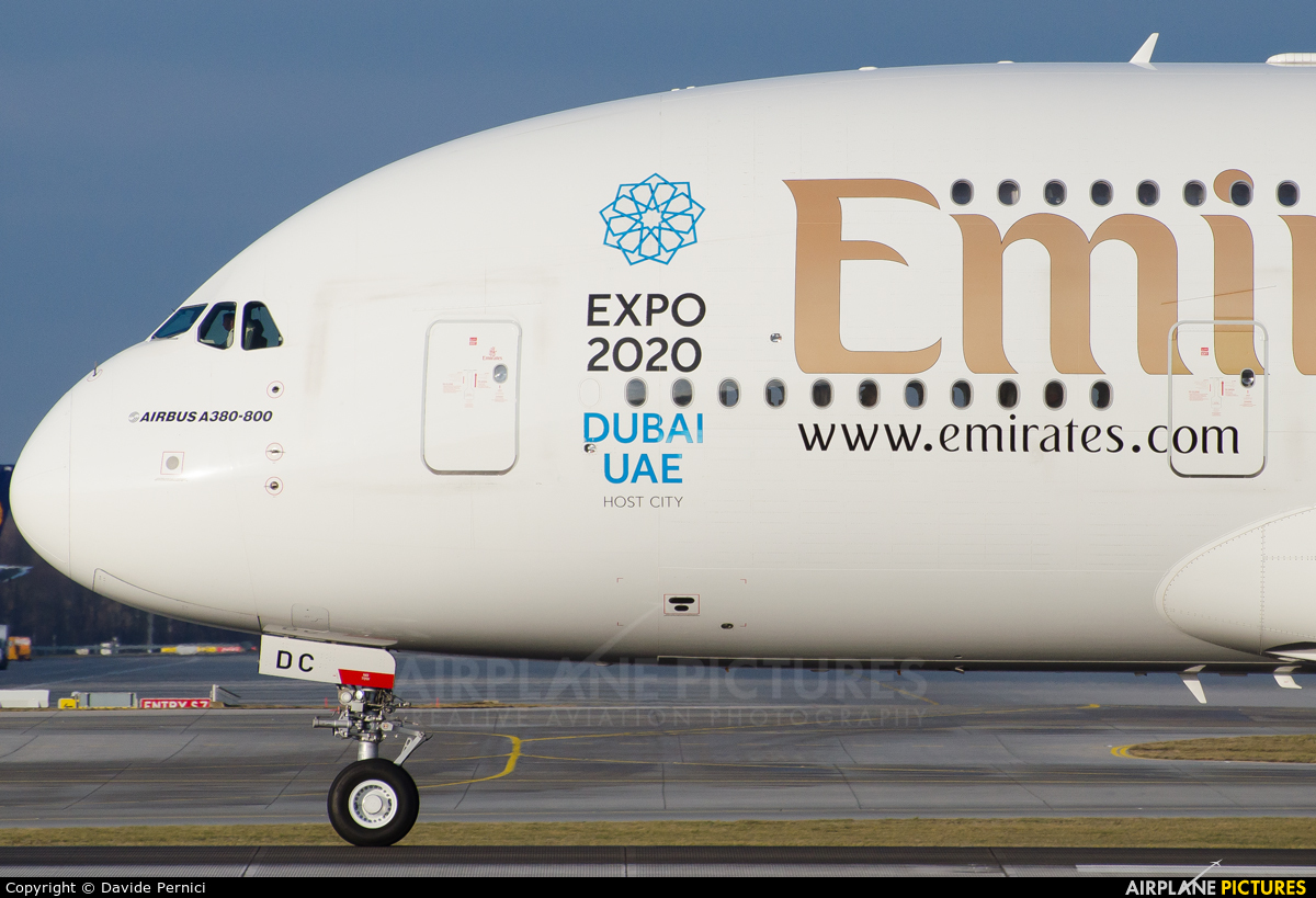 Emirates Airlines A6-EDC aircraft at Munich