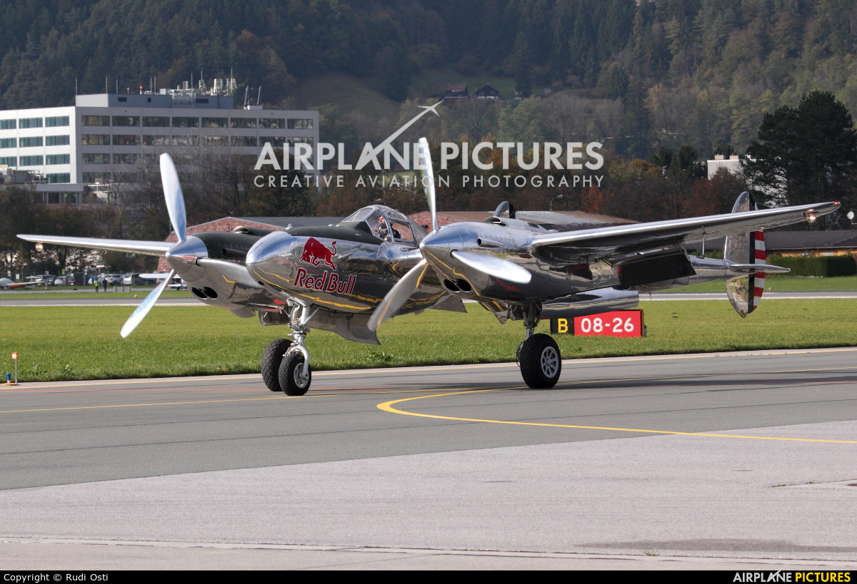 The Flying Bulls N25Y aircraft at Innsbruck