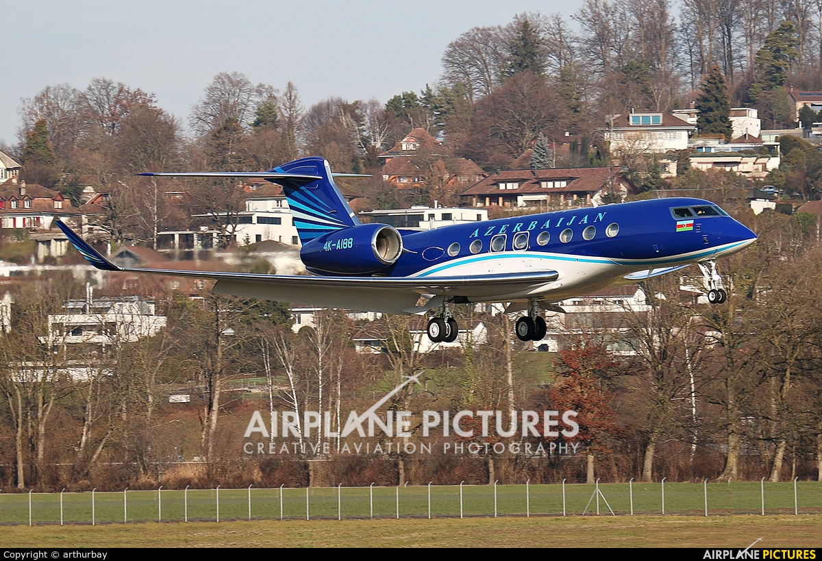 Azerbaijan - Government 4K-AI88 aircraft at Bern - Belp