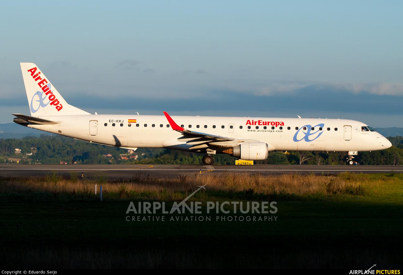 Air Europa EC-KRJ aircraft at La Coruña