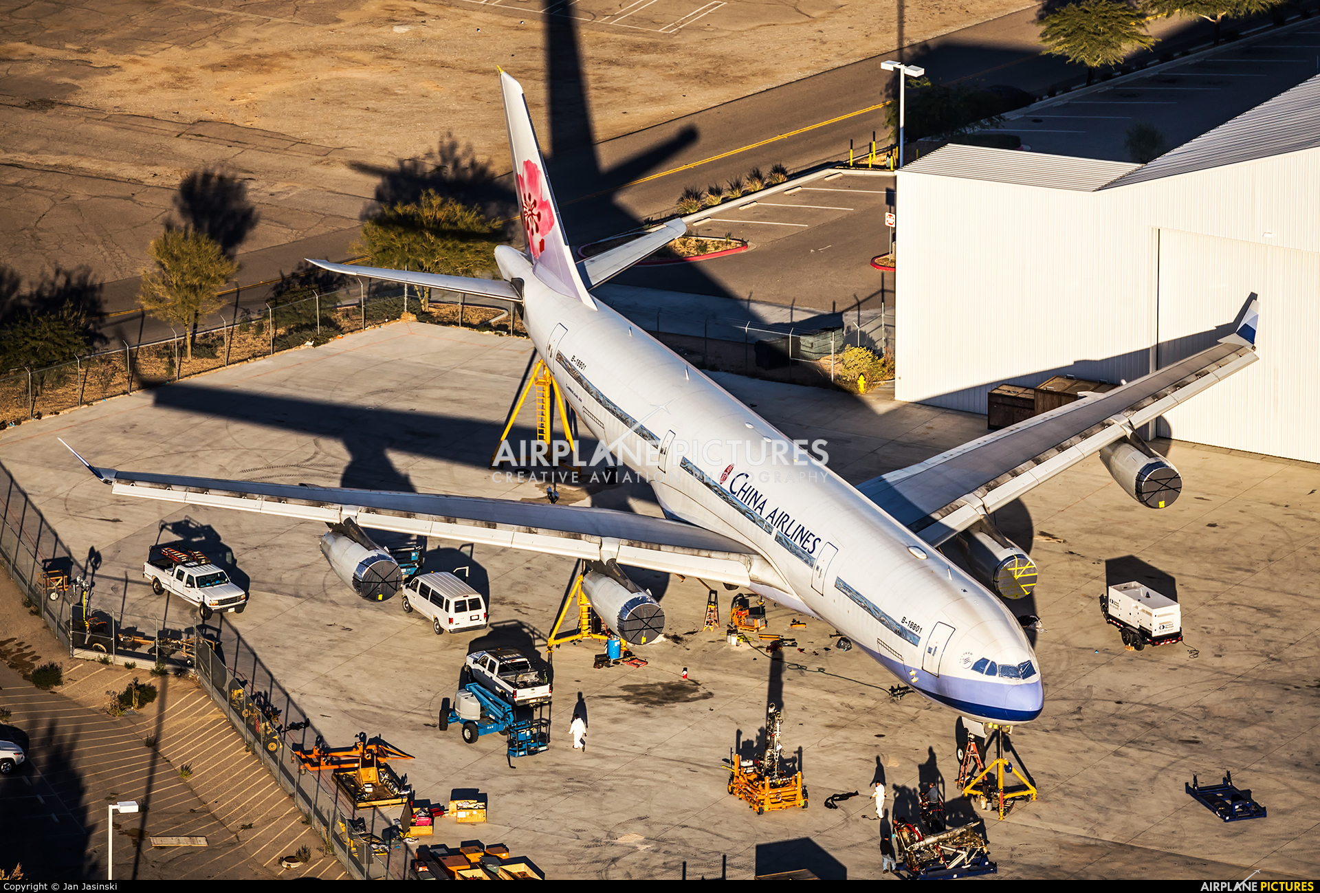 China Airlines B-18801 aircraft at Victorville - Southern California  Logistics